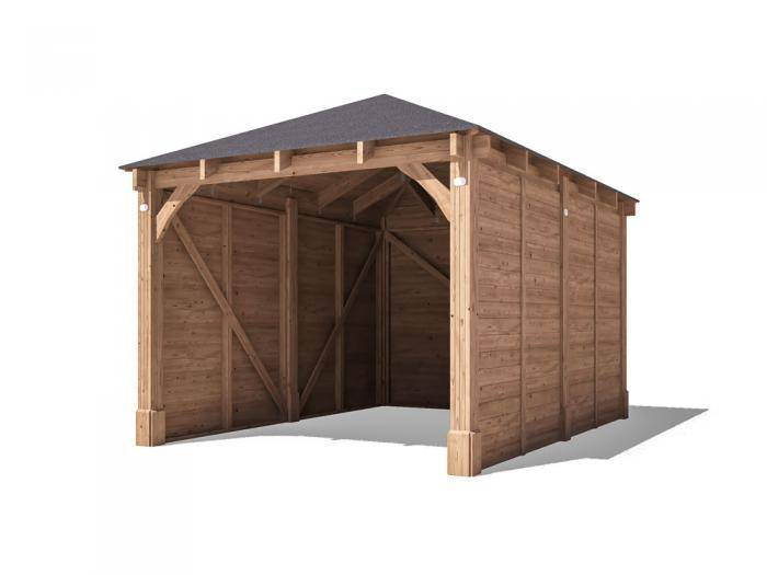 Olympus Single Wooden Carport W3.2m x D4.2m