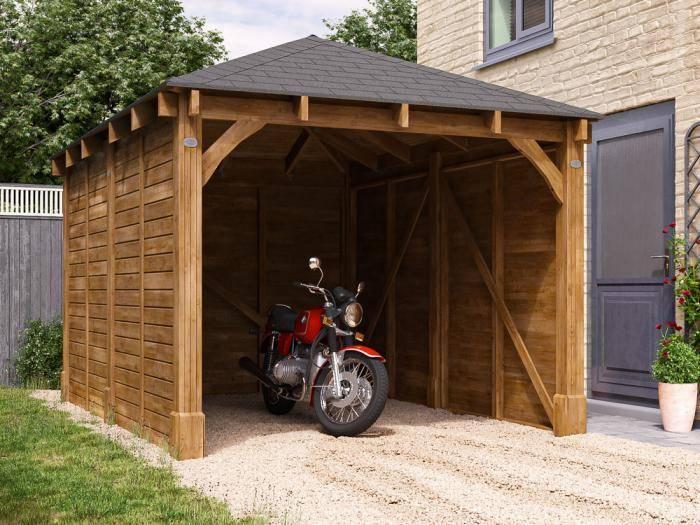 Olympus Single Wooden Carport W3.2m x D4.2m | Carports