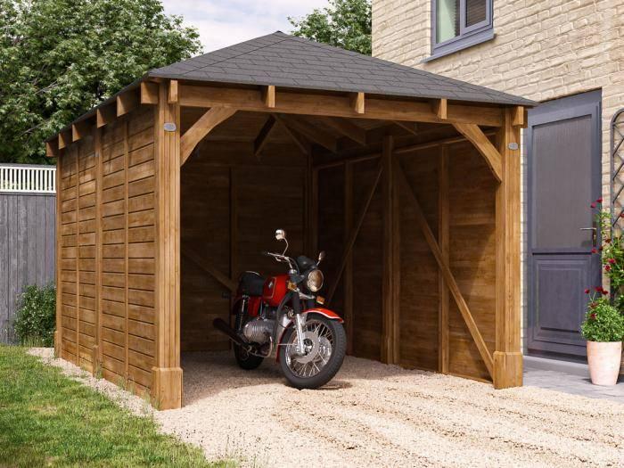 Olympus Single Wooden Carport | Garages