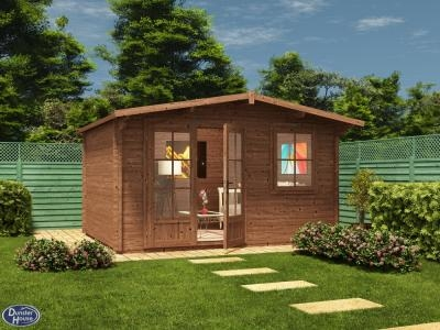 Pressure Treated Rhine Log Cabin W4.0m x D3.0m