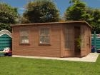 Pressure Treated Sienna Log Cabin W5.0m x D4.0m