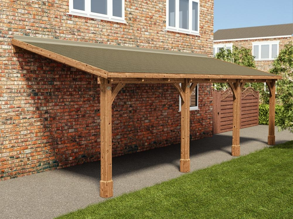 Brontes lean to carport x garages for Lean to house plans