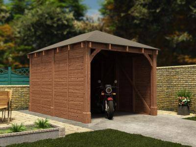 Olympus Single Wooden Carport Garages