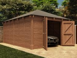 Hercules Single Wooden Garage W4.2m x D6.0m