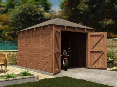 Olympus Single Wooden Garage W3.2m x D4.2m