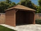 Thatched Atlas Single Carport W4.2m x D3.2m