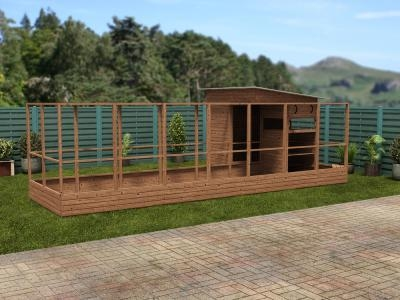 Rabbitopia With Shed W7.0m x D3.06m