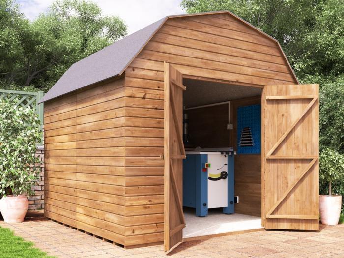 Dutch Barn W2.4m x D2.4m | Sheds | Dunster House
