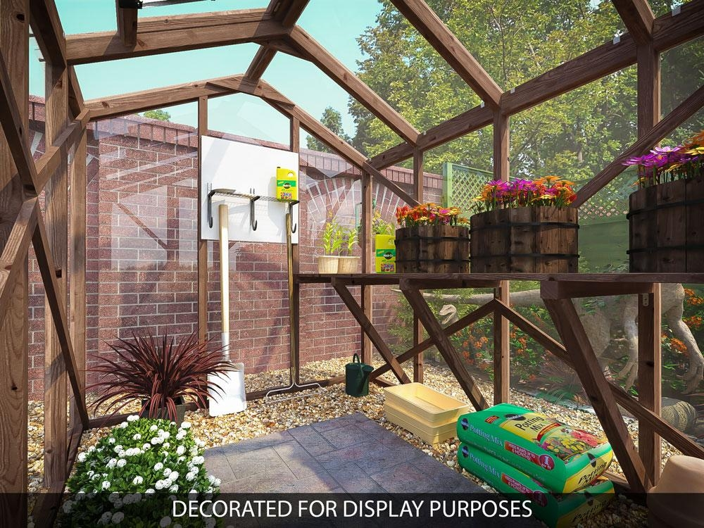 Garden wooden greenhouse automatic ventilating skylight for Greenhouse skylights