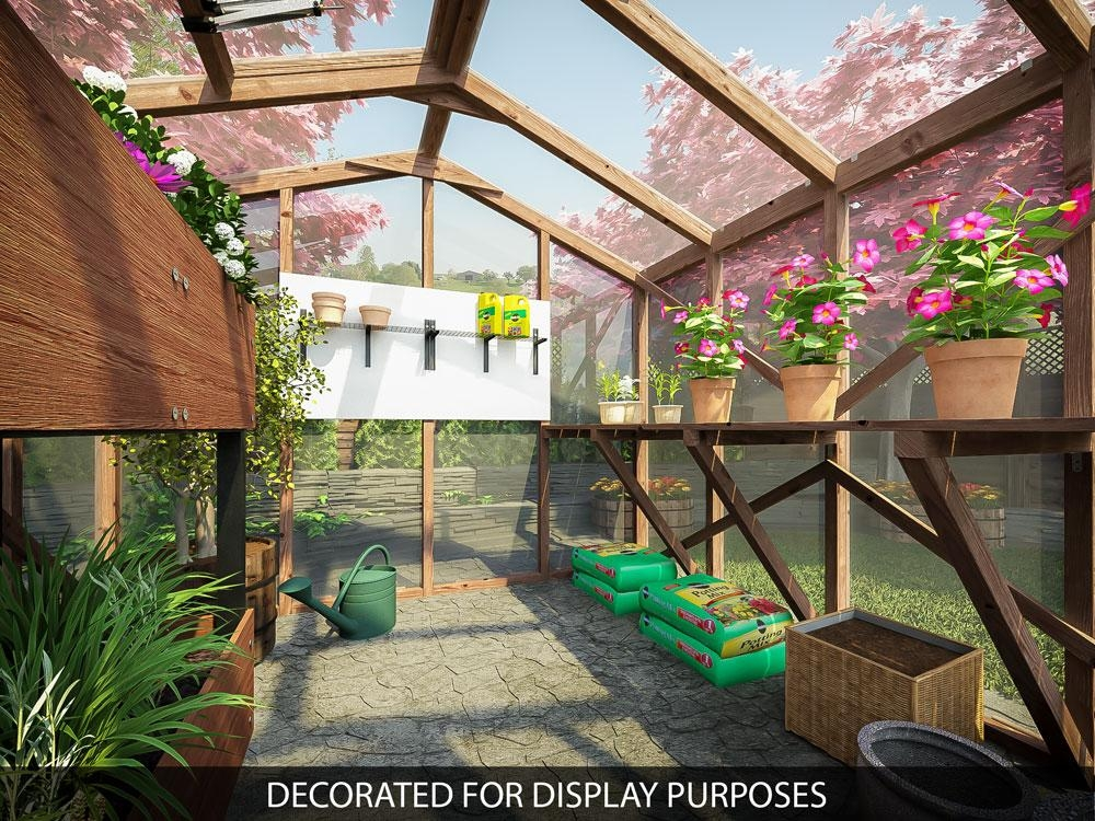 Garden Wooden Greenhouse Automatic Venting Skylight