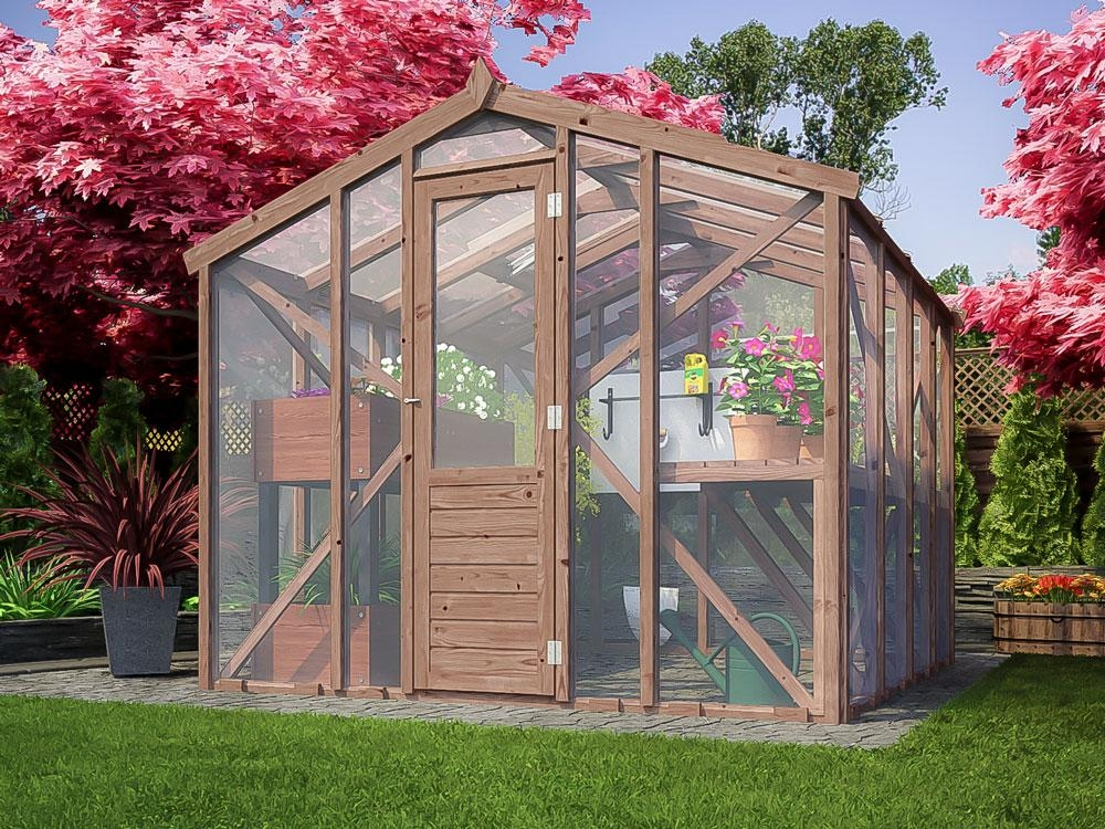 Garden Wooden Greenhouse Automatic Ventilating Skylight
