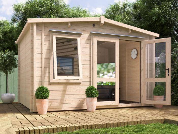 Rhine Insulated Log Cabin W3.8m x D3.0m | Log Cabin