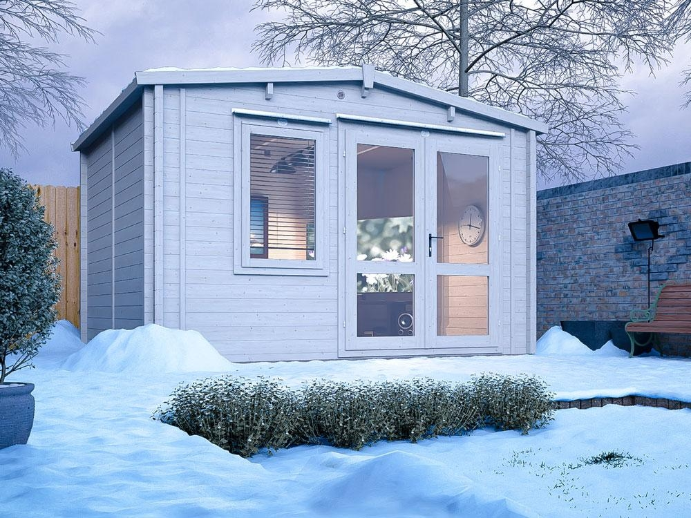 Insulated Log Cabin Garden Office Summer House Man Cave