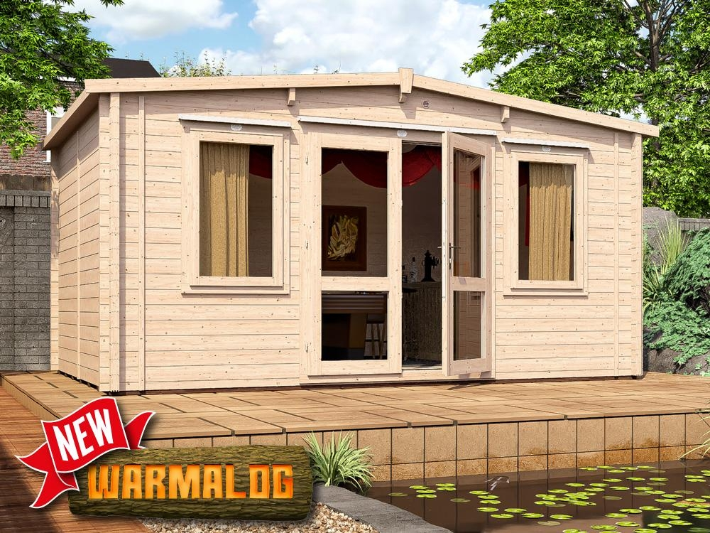 Insulated Garden Log Cabin Timber Man Cave Home Office
