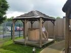 Ex-Display Baka Thatched Gazebo W3.3m x D3.3m
