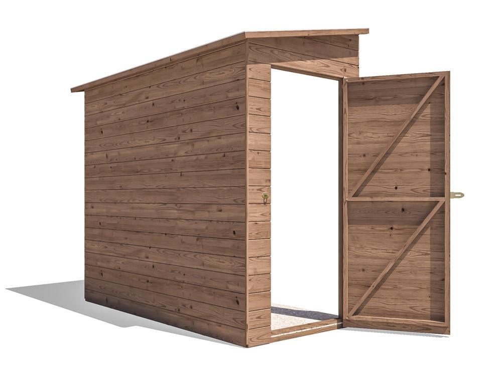 Anya 3-Sided Pent Shed - Left Hand Facing W1.2m x D2.4m