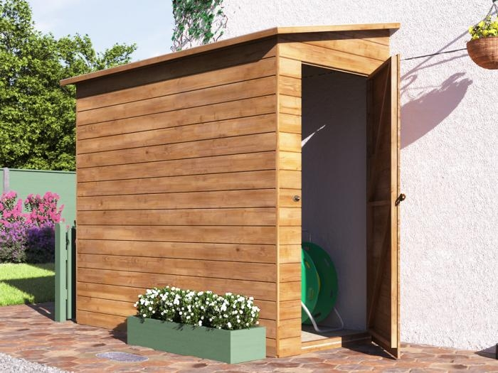 Anya 3-Sided Pent Shed - Left W1.2m x D2.4m | Sheds