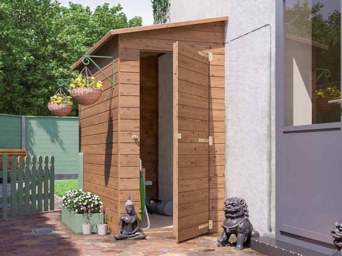 Anya 3-Sided Pent Shed - Left Hand Facing | Sheds & Storage