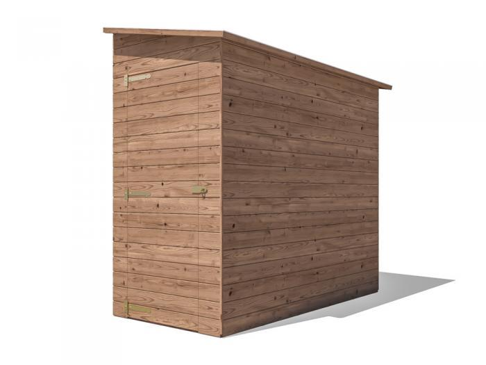 Anya 3-Sided Pent Shed - Right Hand Facing W1.2m x D2.4m