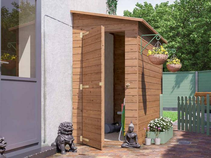 Anya 3-Sided Pent Shed - Right W1.2m x D2.4m | Sheds