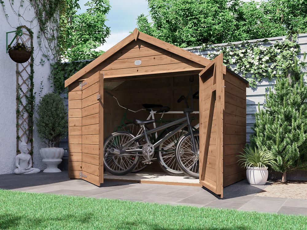 ariane heavy duty bike shed mower storage x. Black Bedroom Furniture Sets. Home Design Ideas