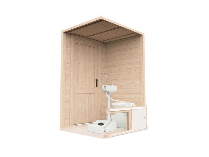 John Log Cabin Toilet Cubicle W1.4m x D1.2m