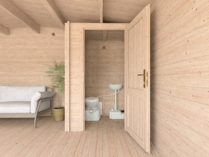 John Log Cabin Toilet Cubicle