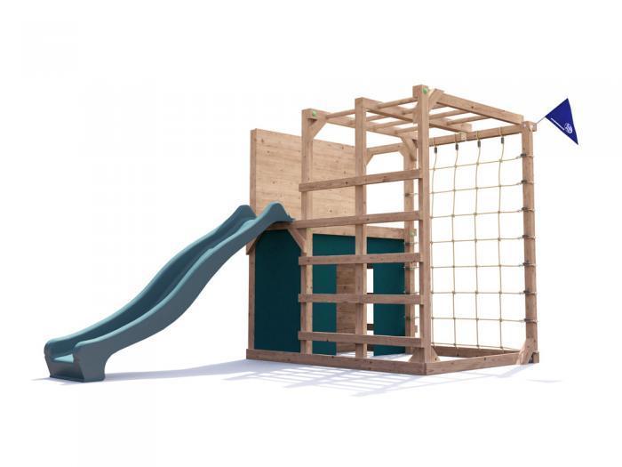 Fort Challenge Climbing Frame with slide W2.1m x D3.5m   Climbing Frames