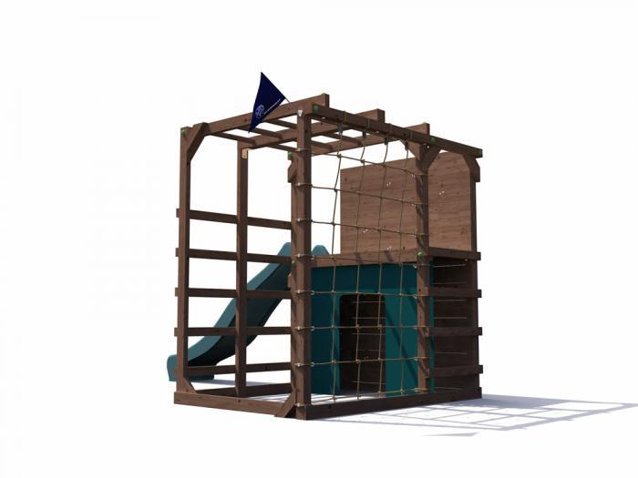 Fort Challenge Climbing Frame with slide W3.5m x D2.1m