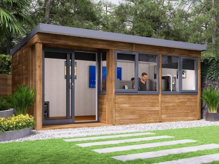 Helena Left Hand Garden Office W5.4m x D2.7m | Garden Offices