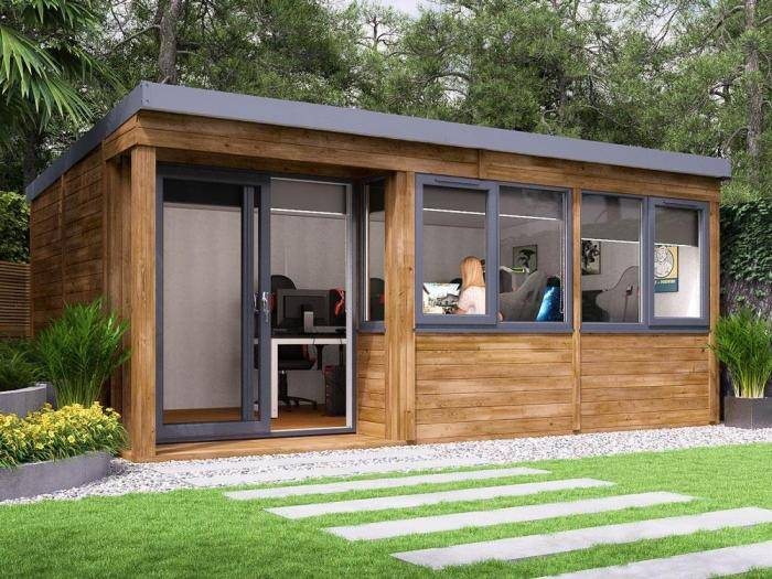 Helena Left Hand Garden Office W5.4m x D3.3m | Garden Offices