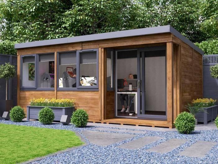 Helena Right Hand Garden Office W5.4m x D3.3m | Garden Offices