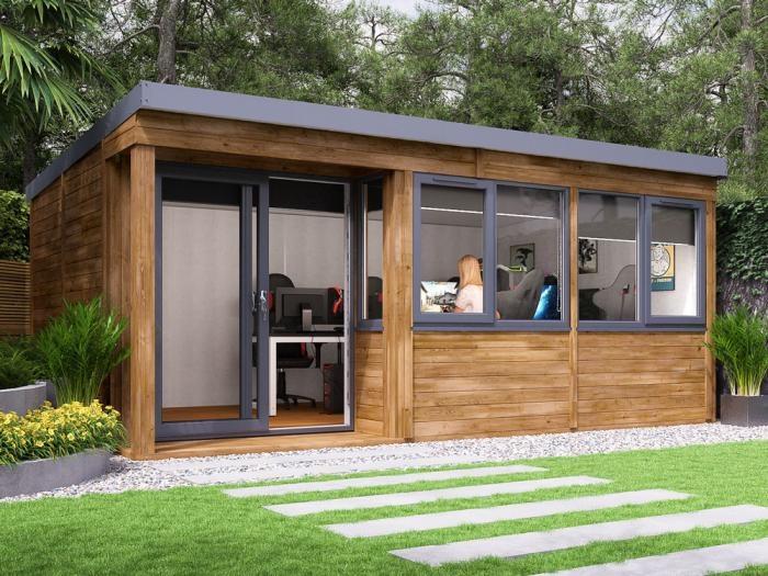 Helena Left Hand Garden Office W5.4m x D3.3m | Garden Rooms
