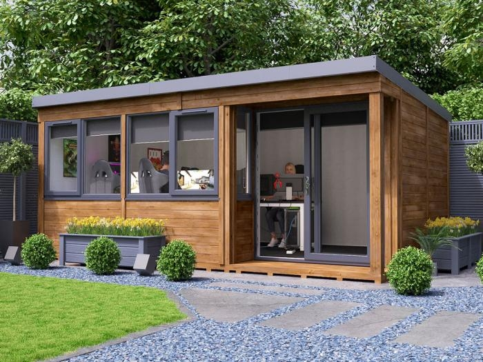Helena Right Hand Garden Office W5.4m x D3.3m   Garden Offices