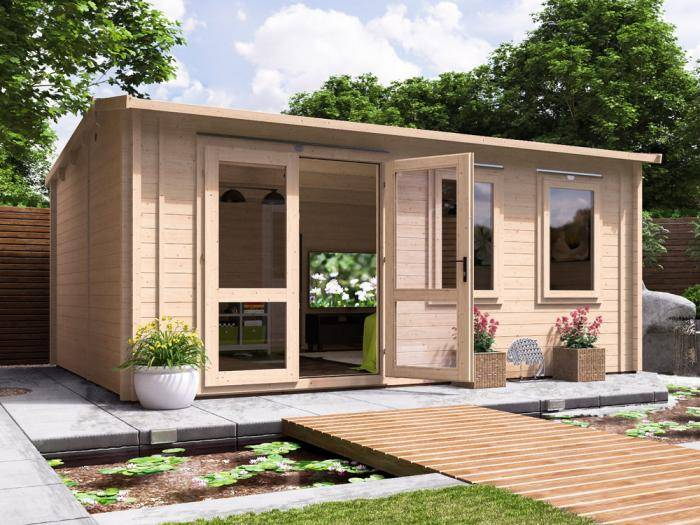 Modetro Insulated Log Cabin W5.5m x D4.0m | Log Cabins | Dunster House