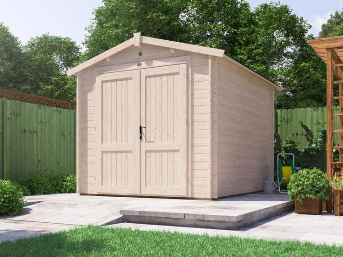 Petrus Log Cabin Workshop W2.5m x D3.0m | Wooden Shed