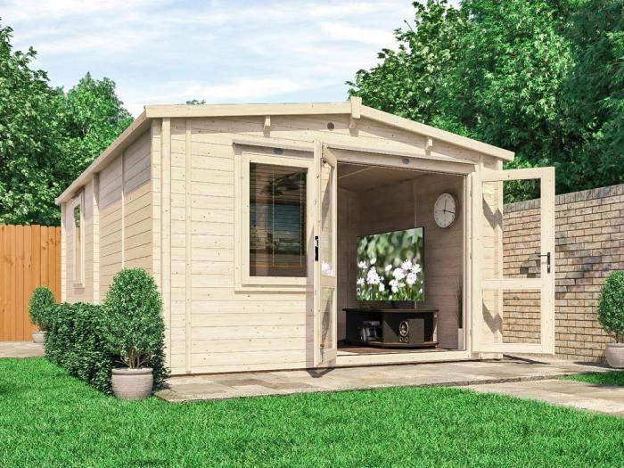 Rhine INSULATED Log Cabin | Warmalog Cabins