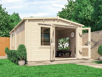 Rhine INSULATED Log Cabin | Warmalog Cabins