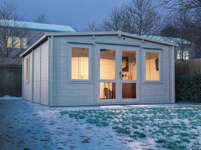 Severn INSULATED Log Cabin W4.8m x D5.8m