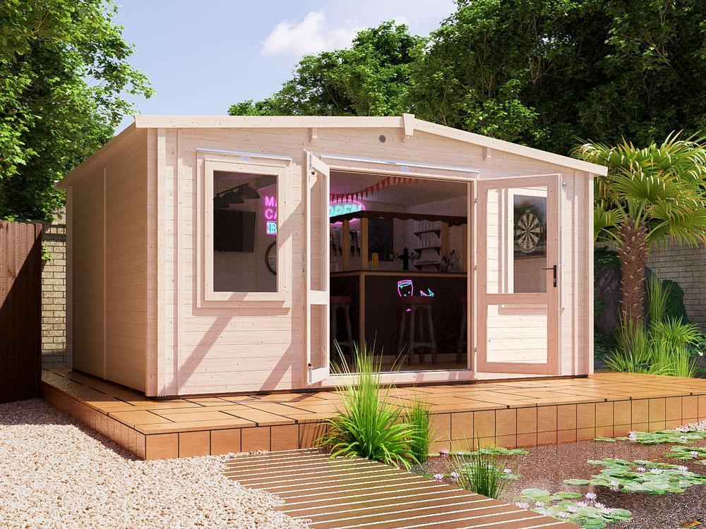 Severn INSULATED Log Cabin | Warmalog Cabins