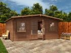 Clearance Pressure Treated Severn Log Cabin W5.0m x D5.0m