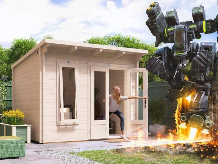 Terminator Log Cabin W3.0m x D2.5m | Log Cabins | Dunster House
