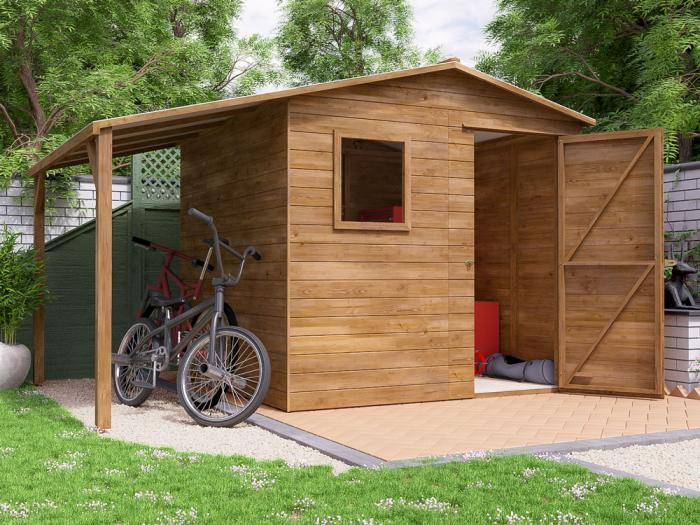 ThunderRoof Dick Pressure Treated Shed W3.4m x D2.4m | Sheds