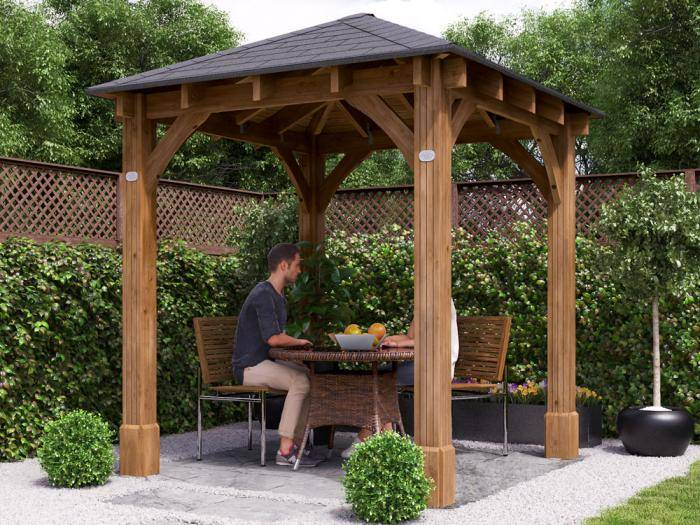 Atlas Open Gazebo W2.3m x D2.3m | Gazebos | Dunster House