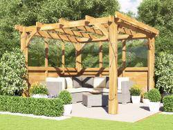Atlas Glazed Wall Pergola