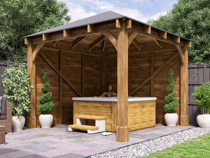 Atlas Walled Chunky Gazebo | Gazebos