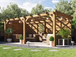 Atlas Solid Wall Pergola