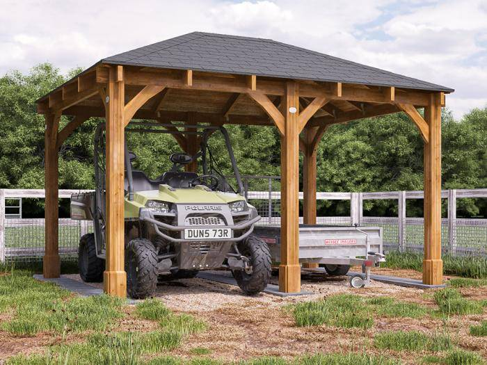Atlas Open Carport W4.0m x D3.0m | Dunster House