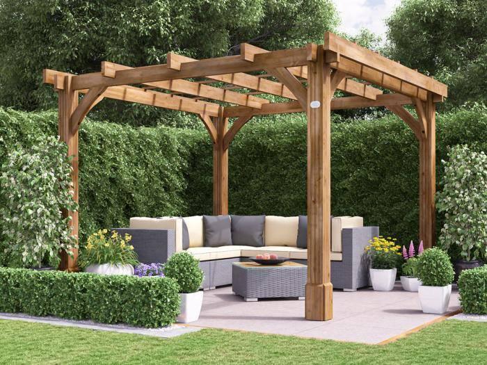 Atlas Wooden Pergola W3.0m x D3.0m | Pergolas | Dunster House