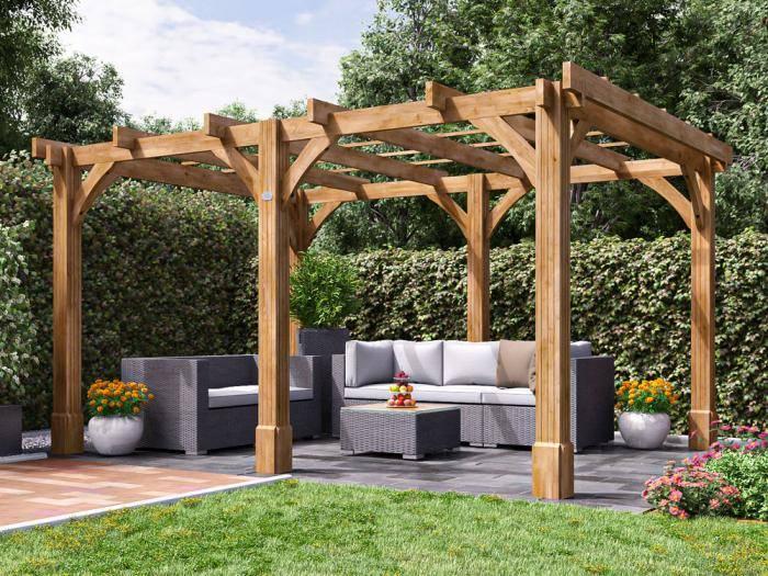 Atlas Wooden Pergola W4.0m x D3.0m | Pergolas | Dunster House
